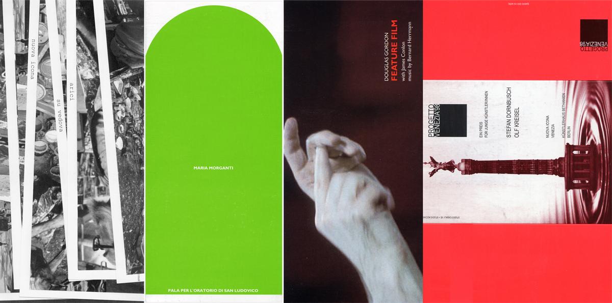 Invitation card: Graziano Arici, Maria Morganti, Douglas Gordon, Kunstlerhaus Bethanien