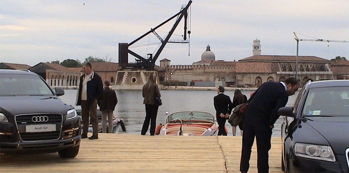 "Design installation ""Teatro del Vento"" (Wind Theatre), Audi and Riva Yachts, Military Arsenal Venezia, 2006"