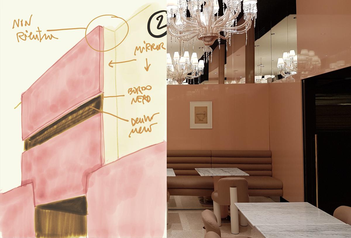 Sacaim, Rezzani de Eccher, progetto esecutivo, detailed design show room Barovier&Toso design Calvi & Brambilla, Murano Venice, 2018