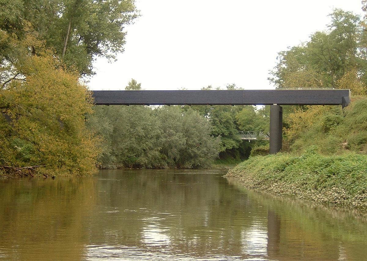 Ponte pedonale sul Navigliaccio / Pedestrian footbridge across Navigliaccio, Comune di Pavia, Pavia, 2006